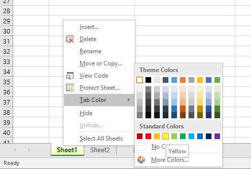 Office Excel kako obojiti listove
