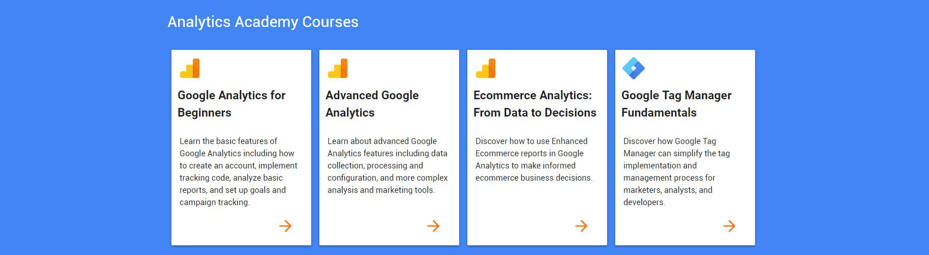 google analytics courses sertifikati