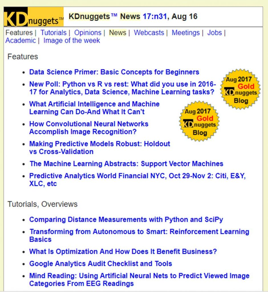 data science newsletter kdnuggets