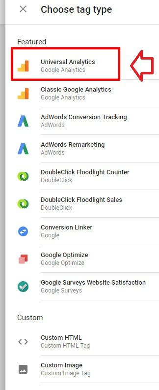 google analytics via google tag manager tag config featured tags